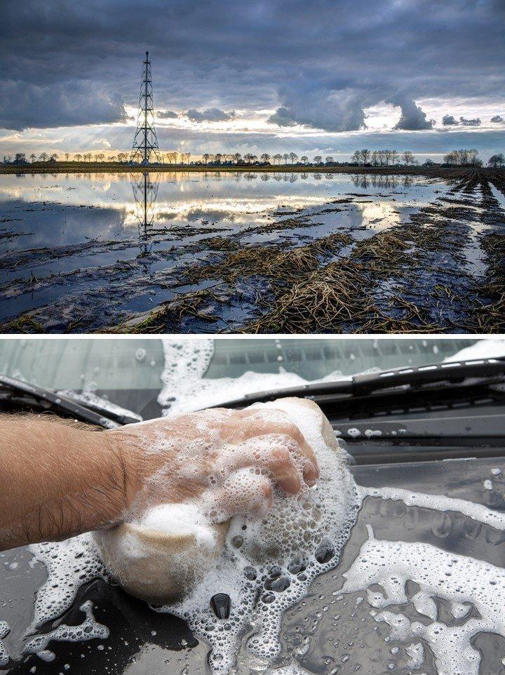 La pollution de l'eau est causée par nos déchets ménagers (eau grise) et surtout par la production industrielle de nos vêtements, téléphones, ordinateurs, voitures, maisons, etc. (eau noire).