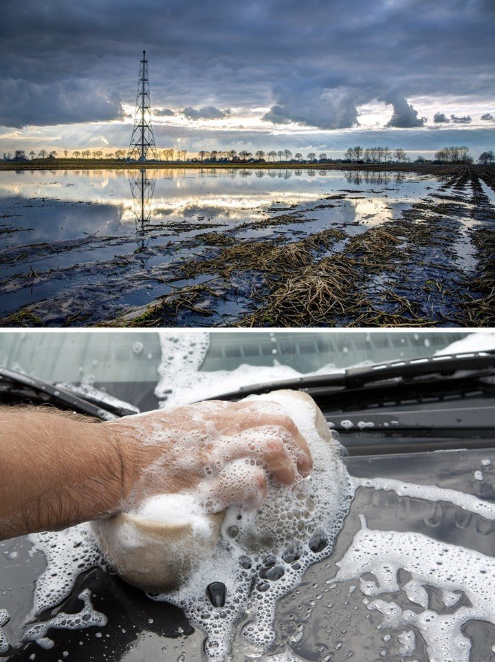 Water pollution is caused by our household waste (greywater) and also by the industrial production of our clothes, phones, computers, cars, houses, etc. (blackwater).