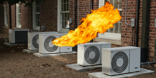 Do you know that your air conditioner produces as much cold air as hot air and thus contributes to global warming?