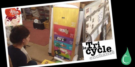 La mission du Tricycle Enchanté est donc fondamentale. Leur action va bien au-delà de la sensibilisation à la problématique des déchets car, chaque objet acheté d'occasion est une économie pour l'environnement.